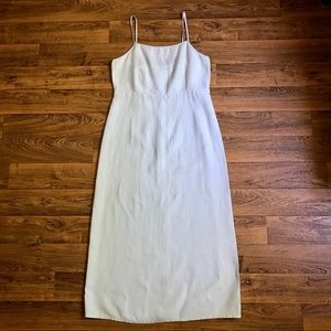 Boston Proper Pale Blue 100% Linen Maxi Dress